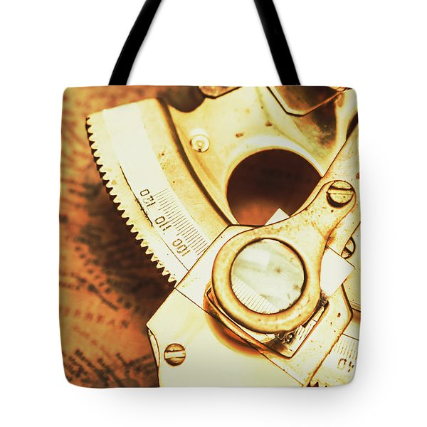 Sextant Sailing Navigation Tool Tote Bag