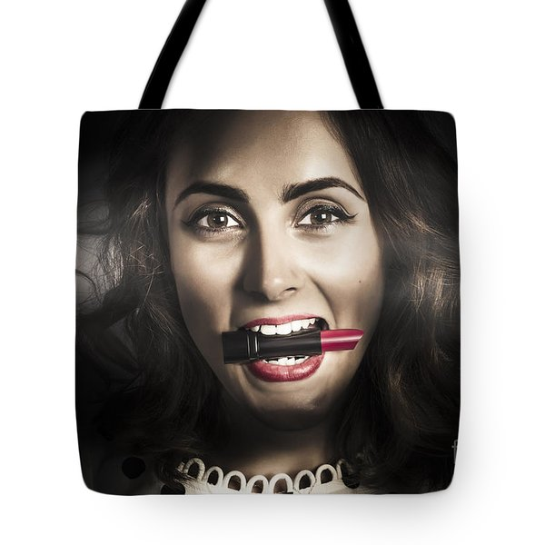 Sexy Lips Pin-up Beauty Tote Bag