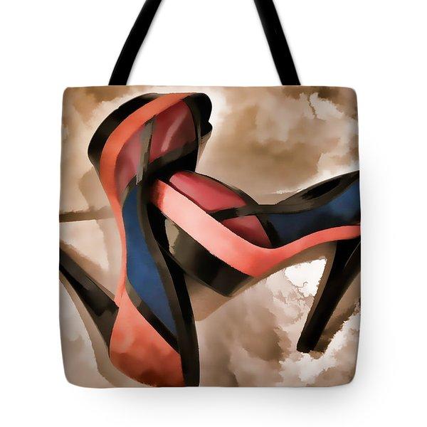 Sexy Orange High Heels Tote Bag