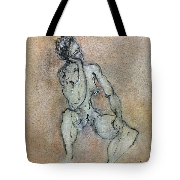 Sexy, Strong, Sleepy Tote Bag by Antonio Ortiz