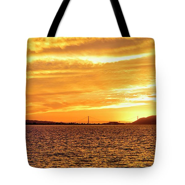 Sf Bay Area Sunset Tote Bag