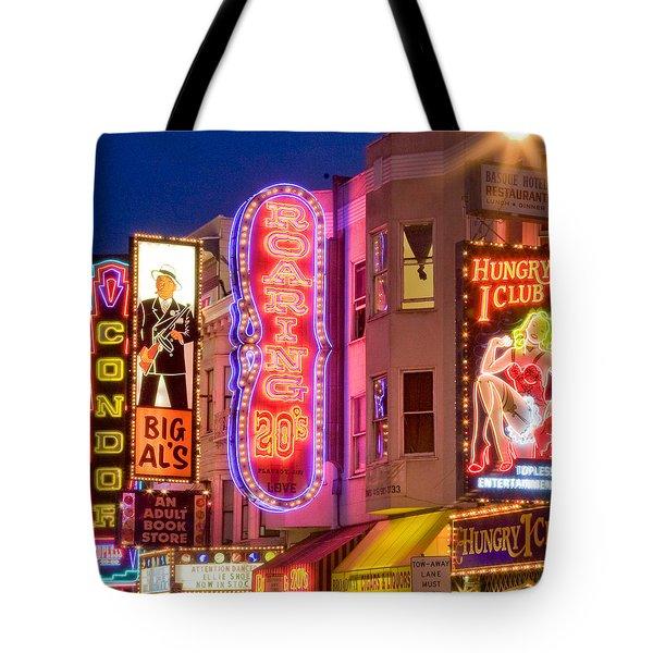Sf North Beach Neon Tote Bag