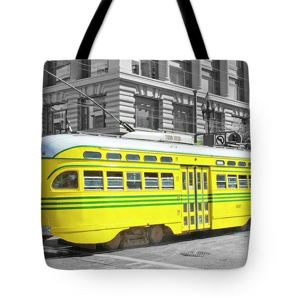 Sf Streetcar Tote Bag