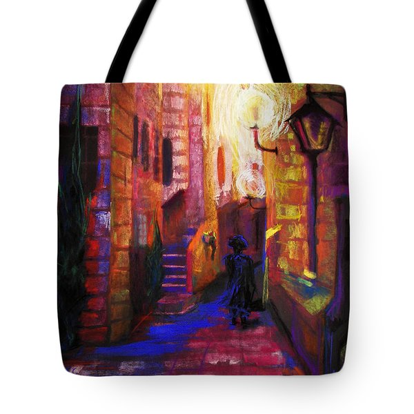 Tote Bag featuring the painting Shabbat Shalom by Talya Johnson