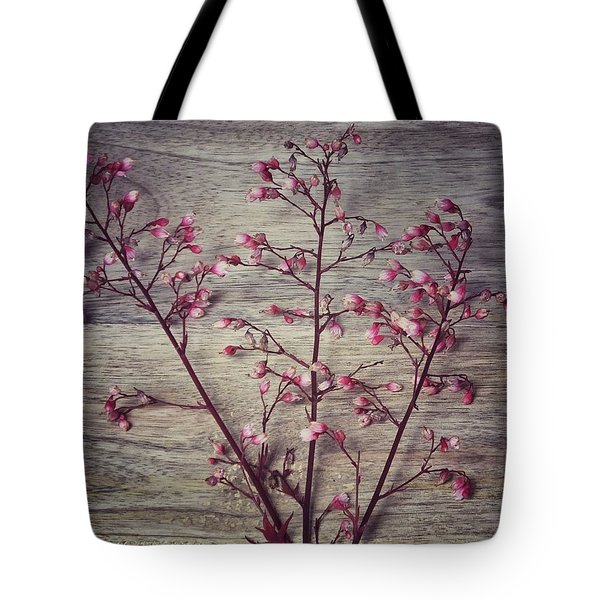 Shabby Chic Coral Bell Flowers Tote Bag
