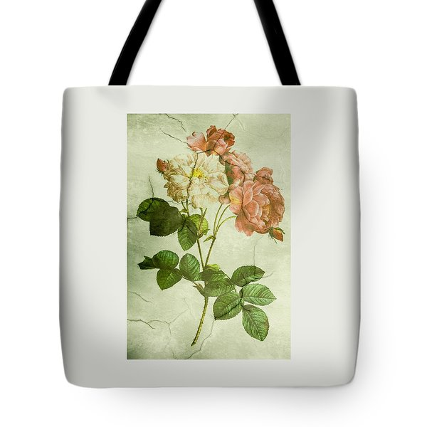 Shabby Chic Pink And White Peonies Tote Bag