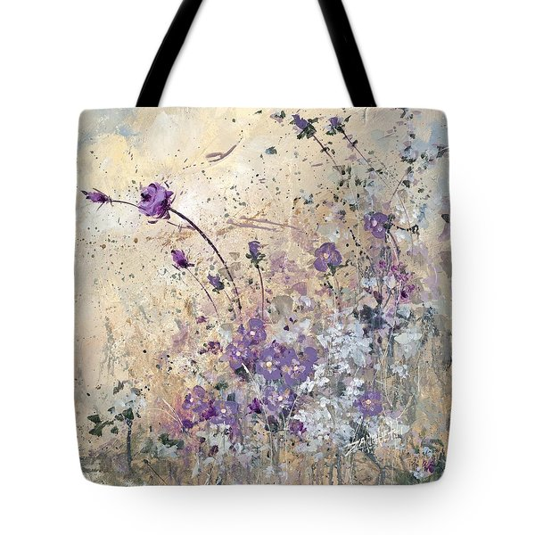 Tote Bag featuring the painting Shabby Eleven by Laura Lee Zanghetti