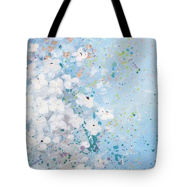 Tote Bag featuring the painting Shabby Nine by Laura Lee Zanghetti