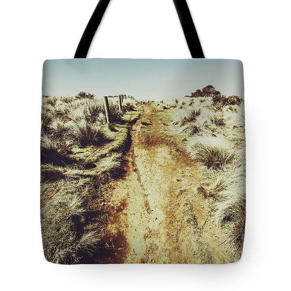 Shabby Outback Path Tote Bag