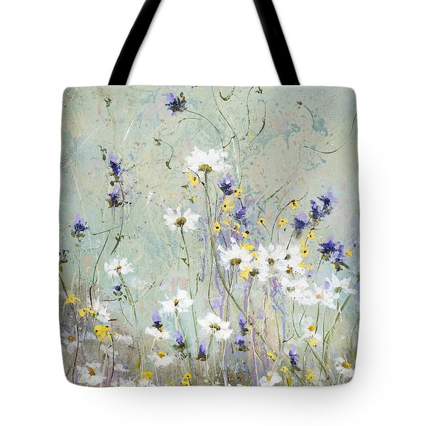 Tote Bag featuring the painting Shabby Ten by Laura Lee Zanghetti