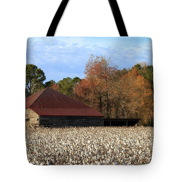 Shack In The Field Tote Bag
