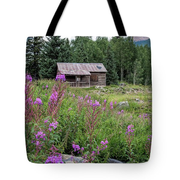 Shack With Fireweed Tote Bag