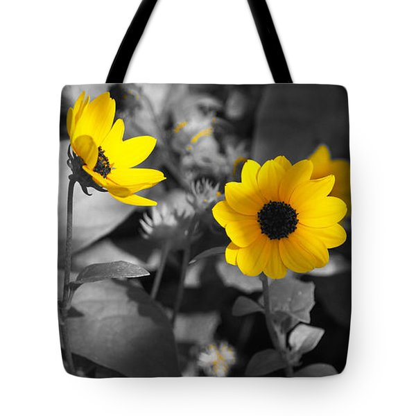 Shaded Daisies Tote Bag