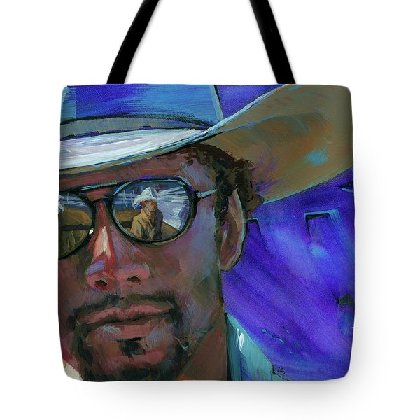Tote Bag featuring the painting Shades by Lesley Spanos
