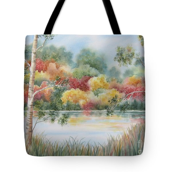 Shades Of Autumn Tote Bag by Deborah Ronglien