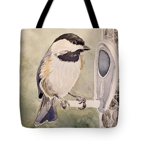 Shades Of Black Capped Chickadee Tote Bag