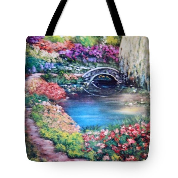 Shades Of Giverny Tote Bag by Megan Walsh