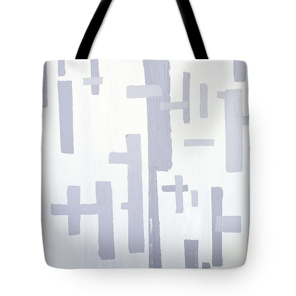 Tote Bag featuring the painting Shades Of Gray by Karen Nicholson