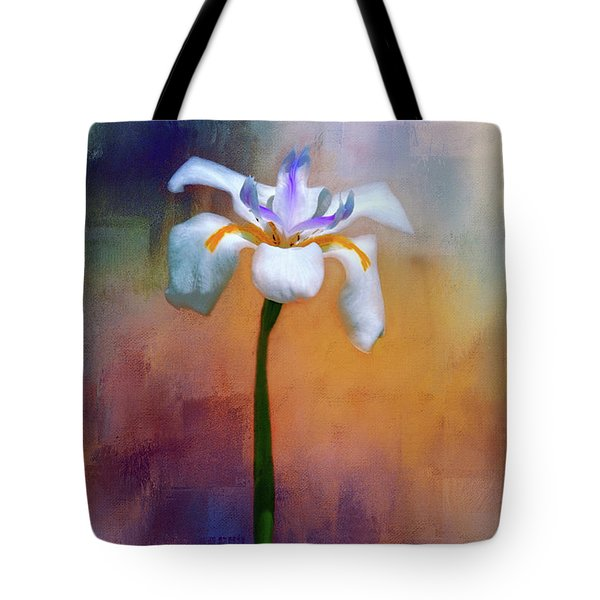 Shades Of Iris Tote Bag by Carolyn Marshall