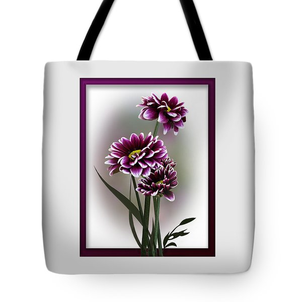 Shades Of Purple Tote Bag by Judy Johnson
