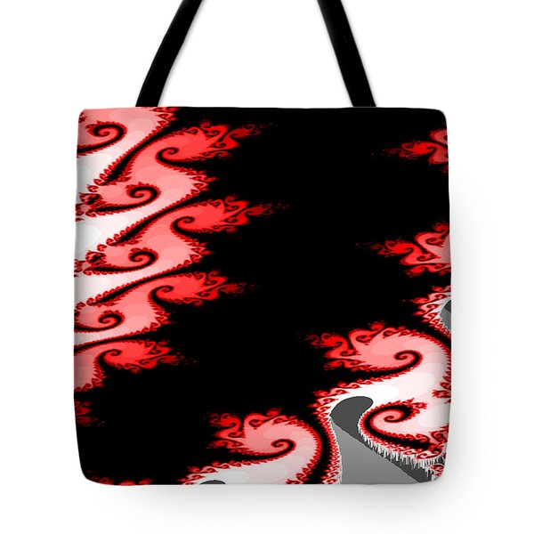 Shades Of Red And Gray Tote Bag