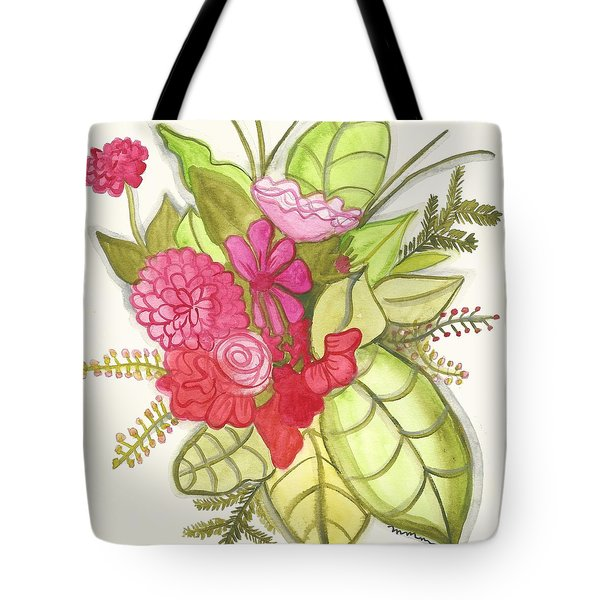 Shades Of Red Bouquet Tote Bag