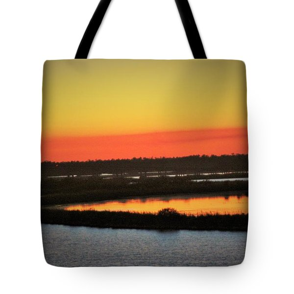 The Colors Of Sundown Tote Bag by John Glass