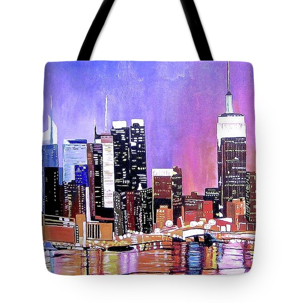 Tote Bag featuring the painting Shades Of Twilight by Donna Blossom