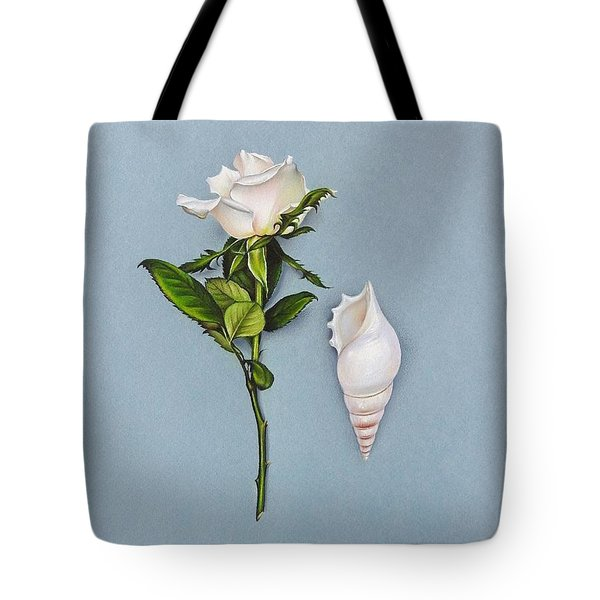 Shades Of White Tote Bag by Elena Kolotusha