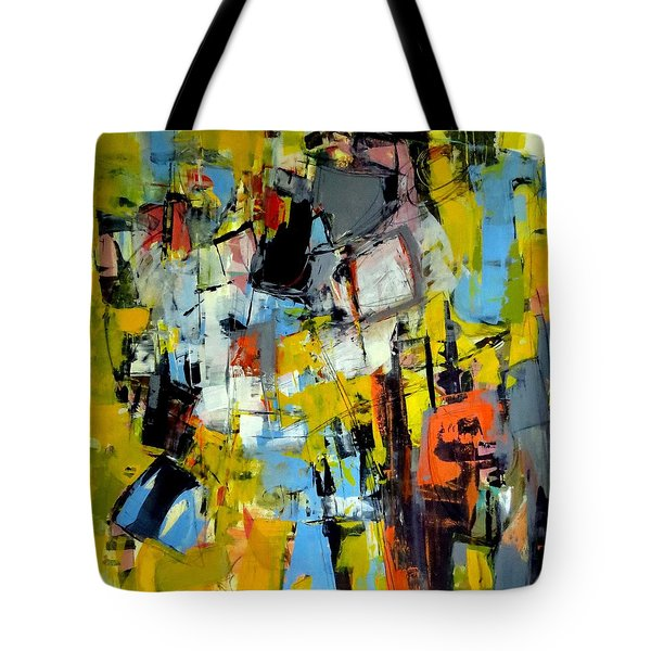 Tote Bag featuring the painting Shades Of Yellow by Katie Black