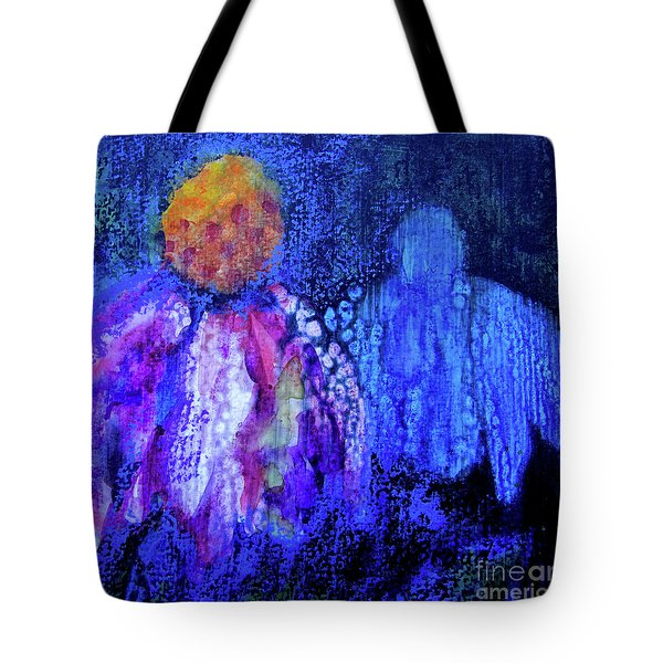 Shadow Abstract Bloom Tote Bag