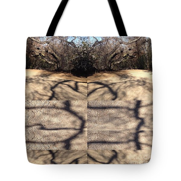 Shadow Crack Lines Tote Bag