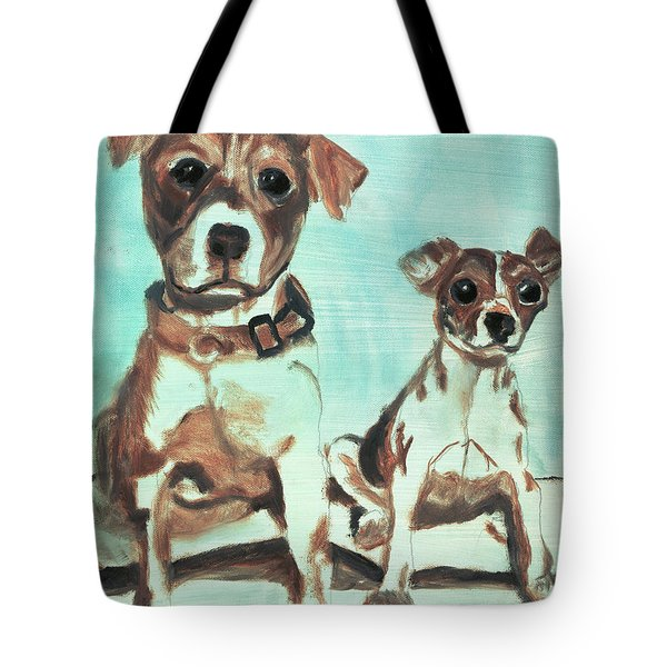 Shadow Dogs Tote Bag by Terry Lewey