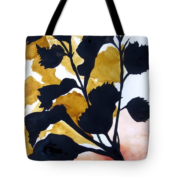 Shadow Hibiscus Tote Bag