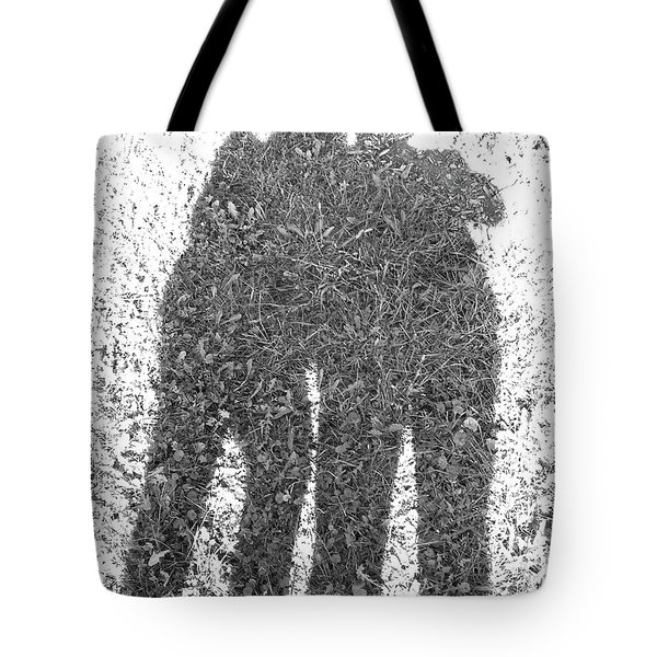 Shadow In The Meadow Bw Tote Bag