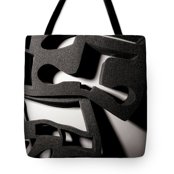 Tote Bag featuring the photograph Shadow Of Foam Abstract Two by John Williams