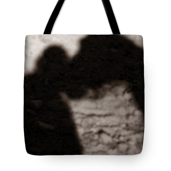 Shadow Of Horse And Girl - Vertical Tote Bag by Angela Rath