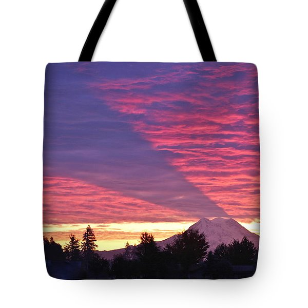 Shadow Of Mount Rainier Tote Bag