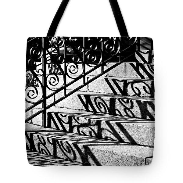 Shadow On The Rotunda Stairs Tote Bag