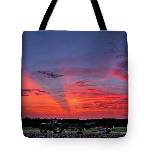 Tote Bag featuring the photograph Shadow Streak Sunset by Mark Dodd