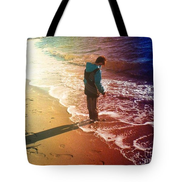 Shadow Wave Tote Bag by Kim Prowse
