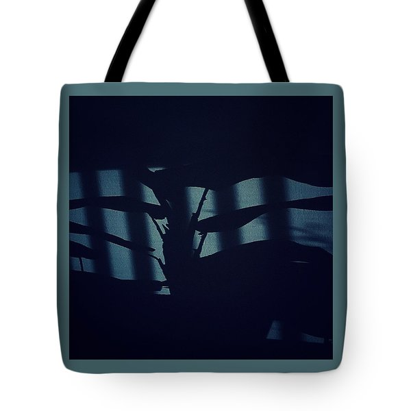 Shadows Abstract - Blue Tote Bag