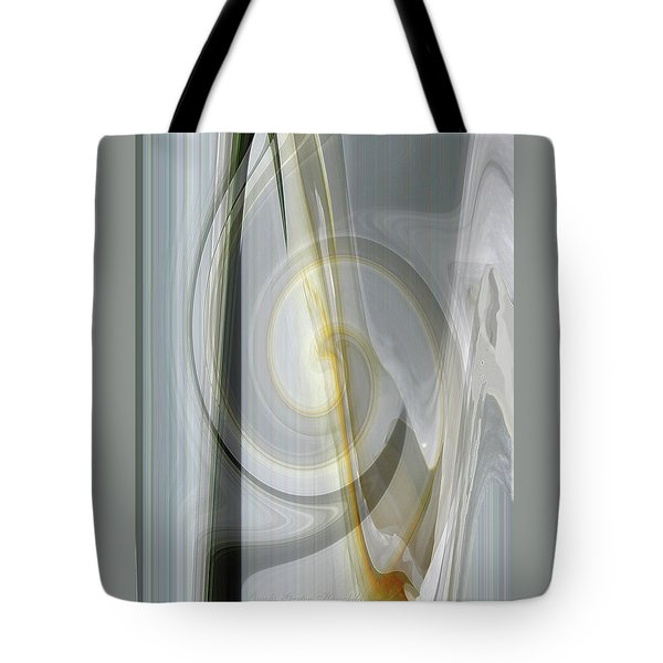 Shadows And Light - Iris Abstract - Manipulated Photography Tote Bag