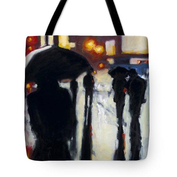 Shadows In The Rain Tote Bag