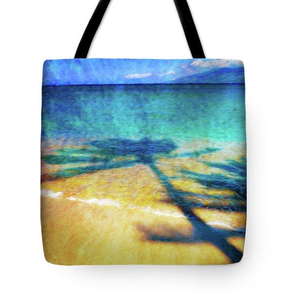 Shadows On The Beach Tote Bag