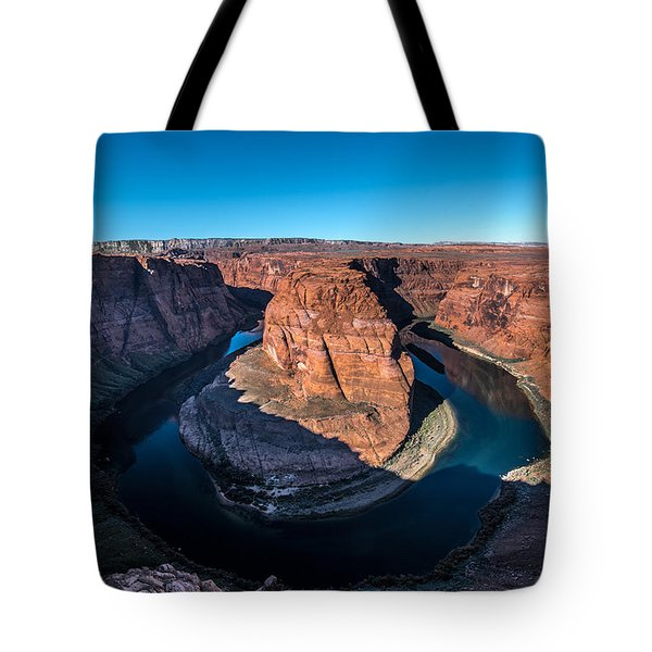Shadows Of Horseshoe Bend Page, Arizona Tote Bag