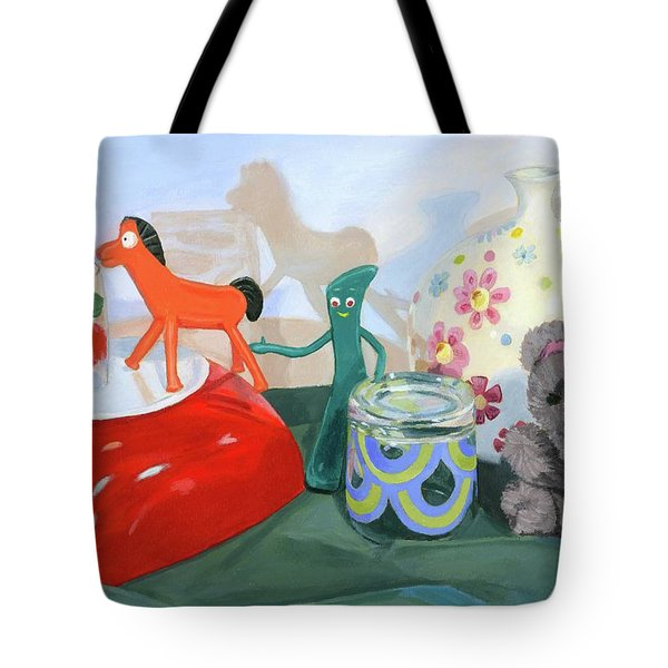 Tote Bag featuring the painting Shadows Of The Past by Lynne Reichhart