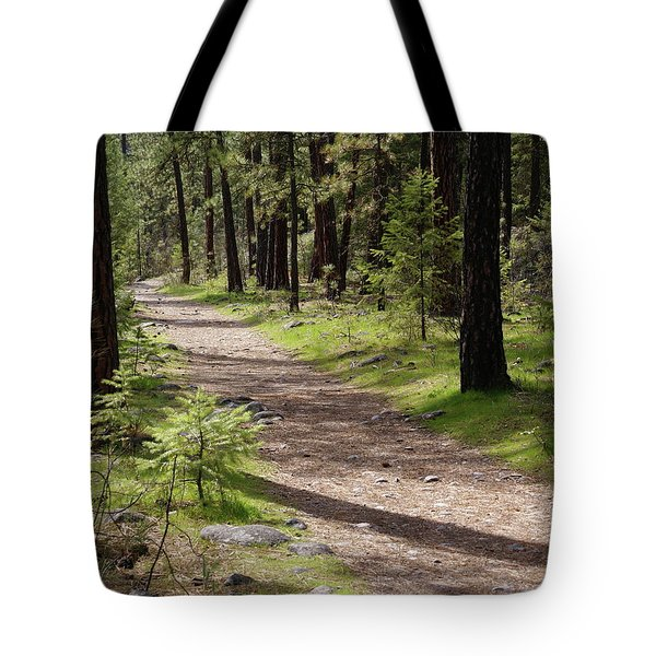 Tote Bag featuring the photograph Shadows On The Path by Ben Upham III