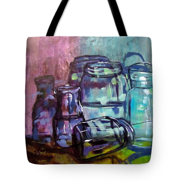 Shadows Through Glass Tote Bag