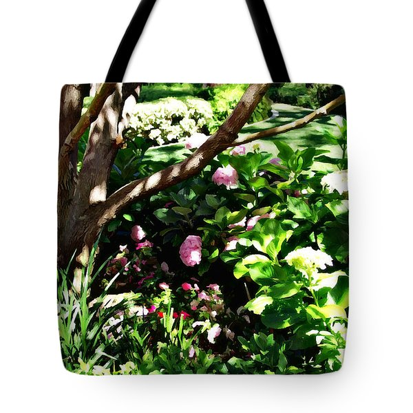 Tote Bag featuring the photograph Shadows Through The Garden by Glenn McCarthy Art and Photography